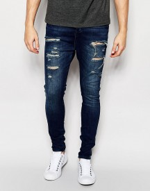 Siksilk Drop Crotch Jeans With Distressing afbeelding