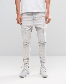 Siksilk Slim Jeans With Distressing afbeelding