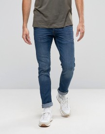 Solid Jeans Slim Fit Jeans In Mid Wash Blue With Stretch afbeelding