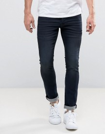 Solid Skinny Jeans In Indigo With Stretch afbeelding