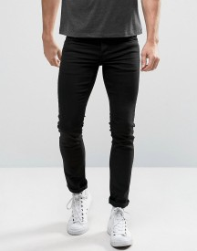 Solid Slim Fit Jeans In Black With Stretch afbeelding