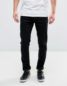 Solid Slim Jeans In Black afbeelding