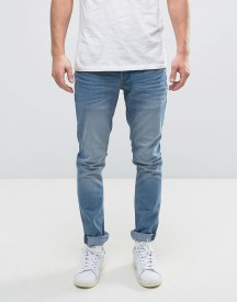 Solid Slim Jeans In Light Blue Wash afbeelding