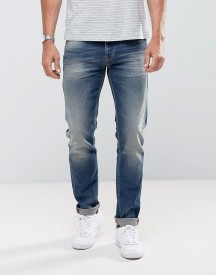 United Colors Of Benetton Slim Fit Jean In Mid Wash Blue With Stretch afbeelding