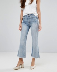 Warehouse Bleached Cropped Flare Jeans afbeelding