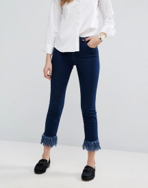 Warehouse Frayed Hem Cropped Jeans afbeelding