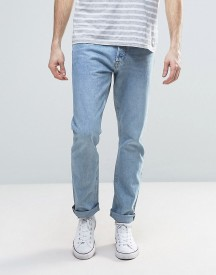 Weekday Common Straight Fit Jeans Wow Blue Wash afbeelding