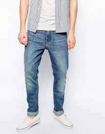 Weekday Jeans Friday Skinny Fit Blue Warning afbeelding
