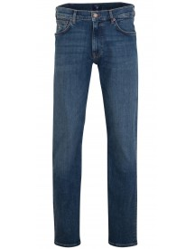 Gant Straight Jeans Mid Blue Worn In afbeelding