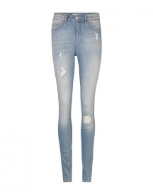 Dames High Rise Skinny High Stretch Destroyed Jeans afbeelding