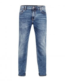 Heren Relaxed Tapered Comfort Stretch Jeans afbeelding
