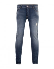 Heren Skinny Tappered 360º Stretch Jeans afbeelding