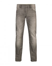 Heren Slim Straight Grey Denim Jeans afbeelding