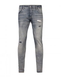 Heren Slim Tapered Selvedge Stretch Jeans afbeelding
