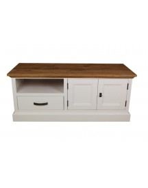 Tv-dressoir Provence - Naturel Eiken/wit afbeelding
