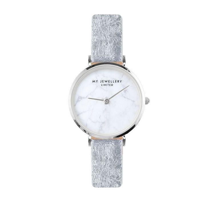 Image Velvet Marble Watch - Grey - Gold/silver/rose