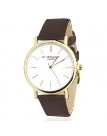 My Jewellery Limited Watch Brown - Gold afbeelding