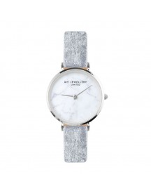 Velvet Marble Watch - Grey - Gold/silver/rose afbeelding