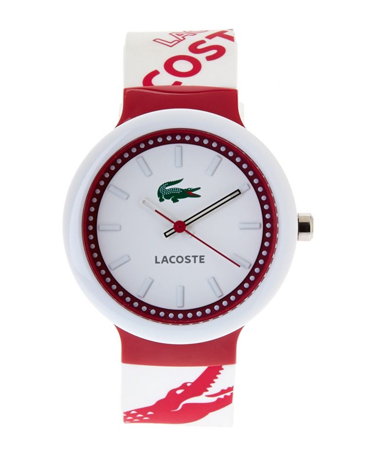 Image Lacoste Horlogeband 2010523 / Lc-46-1-29-2225 Rubber Multicolor 14mm