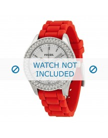 Fossil Horlogeband Es3213 Silicoon Rood 18mm afbeelding