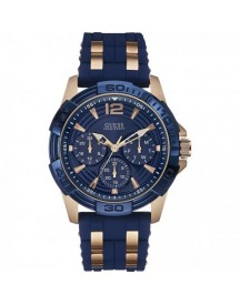 Guess Horlogeband W0366g4 Silicoon Blauw 24mm afbeelding
