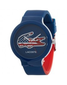 Lacoste Horlogeband Lc-46-4-47-2502 /2020073 /20mm Rubber Multicolor 14mm afbeelding