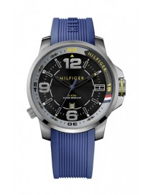 Tommy Hilfiger Horlogeband Th-229-1-34-1519 / Th679301652 / 1791008 Rubber Blauw 22mm afbeelding
