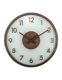 Nextime Frosted Wood Wandklok à 50 Cm afbeelding