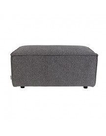 Zuiver King Hocker Polyester 96 X 60 Cm - Donkergrijs afbeelding