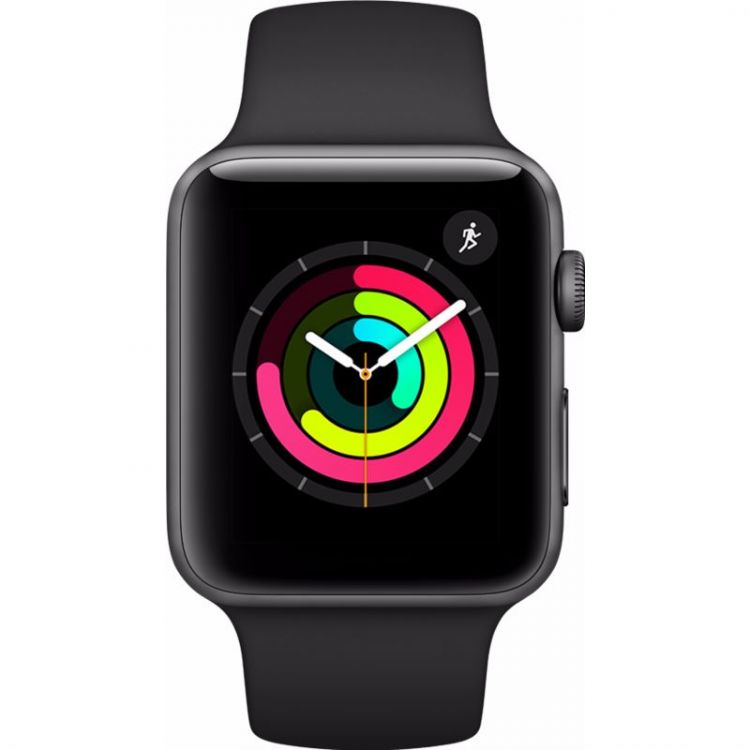 Image Apple Watch Series 3 42mm Space Grey Aluminium/zwarte Sportband