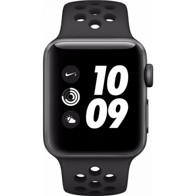 Image Apple Watch Series 3 Nike+ 38mm Space Grey Aluminium/zwart Sportband