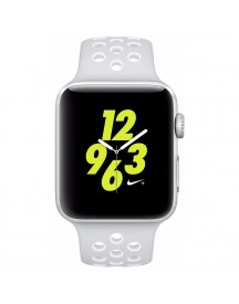Apple Watch Nike+ 42mm Zilver Aluminium/platinum Wit Sportband afbeelding