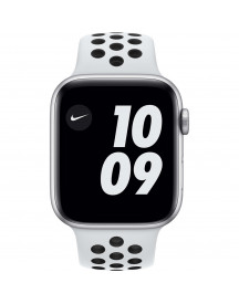 Apple Watch Nike Series 6 44mm Zilver Aluminium Witte Sportband afbeelding