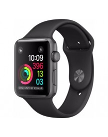 Apple Watch Series 1 38mm Spacegrijs Aluminium/zwarte Sportband afbeelding