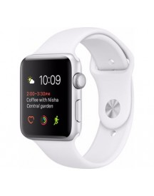 Apple Watch Series 2 42mm Zilver Aluminium/witte Sportband afbeelding