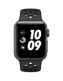 Apple Watch Series 3 Nike+ 38mm Space Grey Aluminium/zwart Sportband afbeelding