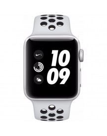 Apple Watch Series 3 Nike+ 38mm Zilver Aluminium/zwart Sportband afbeelding