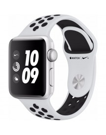 Apple Watch Series 3 Nike+ 42mm Zilver Aluminium/zwart Sportband afbeelding