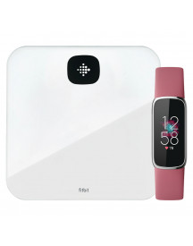 Fitbit Luxe Roze + Fitbit Aria Air Wit afbeelding