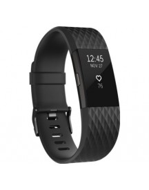 Fitbit Charge 2 Black/gunmetal - L - Special Edition afbeelding