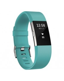 Fitbit Charge 2 Teal/silver - L afbeelding