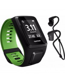 Tomtom Runner 3 Cardio + Music + Headphone Black/green - S afbeelding