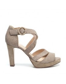 Manfield - Taupe Sandalen afbeelding