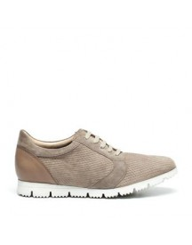 Manfield - Taupe Sneakers afbeelding