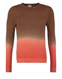 120% Cashmere Trui Brown/orange afbeelding
