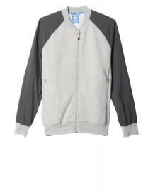Adidas Originals Luxe Mix Trainingsjack Medium Grey Heather afbeelding