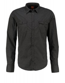 Boss Orange Slim Fit Casual Overhemd Charcoal afbeelding