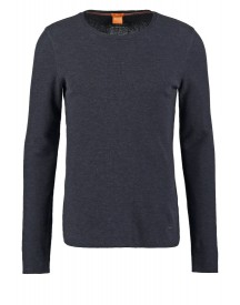 Boss Orange Terris Slim Fit Longsleeve Dark Blue afbeelding