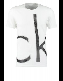 Calvin Klein Jeans Triangle Slim Fit Tshirt Print White afbeelding