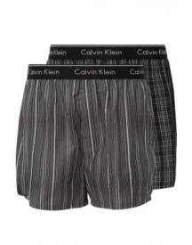Calvin Klein Underwear 2 Pack Boxershorts Breslin Plaid/gallagher Stripe afbeelding